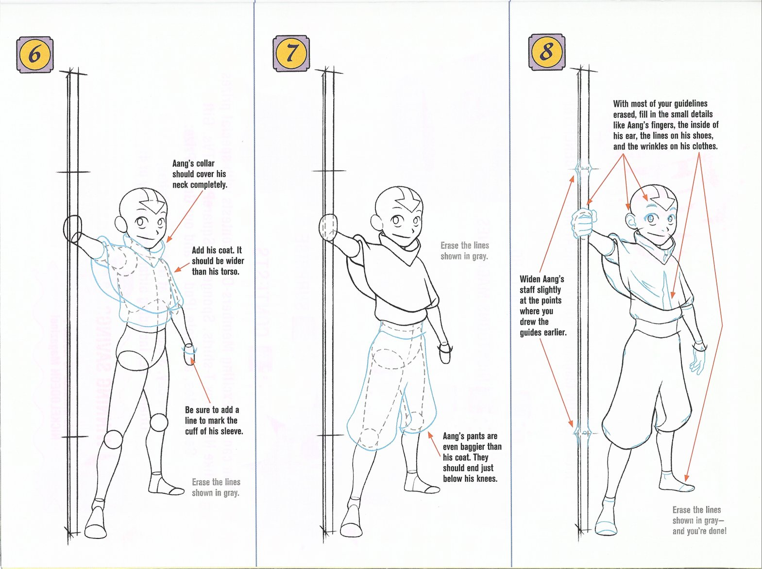 how to draw aang page 1 page 2 page